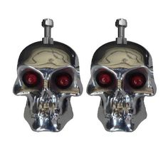 Skull Turn Signals available in Red, Amber, Blue or Green Eyes.