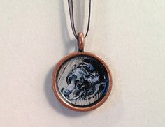 Black Labrador Retriever Art Pendant. Available on Etsy.