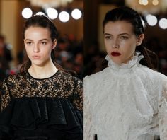 10 Major Runway Inspired Hair Trends 2018 | Giambattista Valli slicked back hair