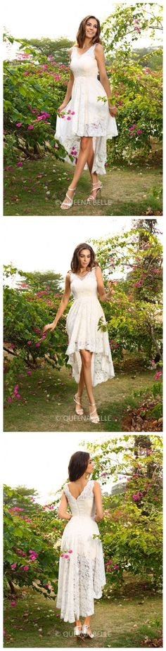 White High Low Bridesmaid Dresses! Up to 77% Off~