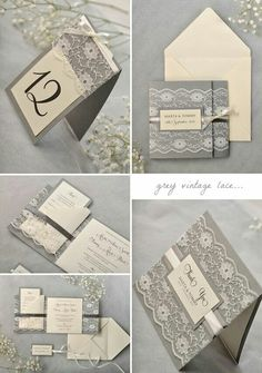rustic grey vintage lace 54 trendy Ideas - Wedding invitations rustic grey vintage lace 54 trendy Ideas -Wedding invitations rustic grey vintage lace 54 trendy Ideas - Wedding invitations rustic grey vintage lace 54 trendy Ideas - A beautiful. Classic Wedding Invitations, Rustic Invitations, Printable Wedding Invitations, Wedding Invitation Suite, Wedding Stationary, Invites, Shabby Chic Wedding Invitations, Invitation Wording, Invitation Design