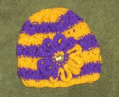 Purple Gold School Team Colors Hat Great Gift Idea for A Cheerleader | eBay