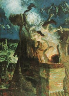 Albert Welti - Walpurgis Night (1897)