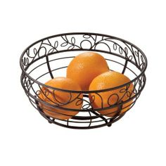 InterDesign Twigz Fruit Bowl, Bronze by InterDesign. $12.25. Feet on bottom keeps fruit clean and dry. Sturdy wire construction. Beautiful twig and leaf design. 4.1-Inch by 10-Inch by 10-Inch. Bronze finish. Treat your fruit to a proper home with the Bronze Twigz Fruit Bowl. This countertop fruit bowl is the no-frills solution that will have your table or countertop looking ready for any occasion. Featuring a beautiful twig and leaf design, this metal fruit hold...