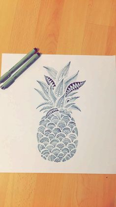 Pineapple Mandala Doodle Tattoo Design                                                                                                                                                                                 More