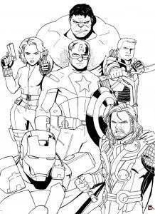 new avengers endgame coloring page for marvel fans  avengers coloring pages avengers coloring