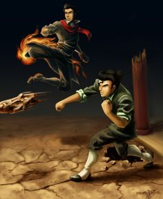 Can't wait to see these two fight PROPERLY out of the arena. #Mako #Bolin