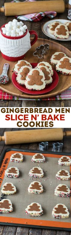 Homemade Gingerbread Men Slice N' Bake Cookies with step by step instructions! Add this christmas cookie to your holiday baking!