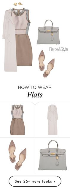 """Untitled #197"" by fiercenstyle on Polyvore featuring Victoria, Victoria Beckham, Paul Andrew, Sally Lapointe and Hermès"