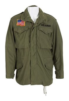 The US army jacket worn by Sylvester Stallone in his iconic role as John Rambo in the 1982 film First Blood