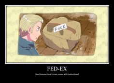 Germany and Italy #Hetalia. oh god. oh god. oh god. i never looked at it that way... good thing i ship it. HA GET IT? SHIP IT! AHAHAHAAA fuck my life. hey get it? fuck? because the box says... ugh never mind.