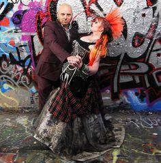 Punk rock wedding theme in Australia