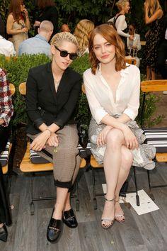Kristen Stewart and Emma Stone at the CFDA/Vogue Fashion Fund Show.