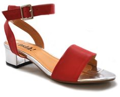 Peep toe block heel sandals back in stock, in all sizes and colours. Now also available in Red with a shiny silver block heel!! Grab them while you can:   http://shoesdays.co.uk/collections/ladies-womens-shoes-mid-heels?page=2  #shoes #fashion #summer #red #hot #baby