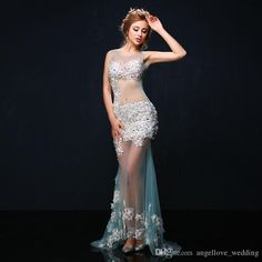 Formal Evening Dress Trumpet   Mermaid Jewel Court Train Tulle with Beading    Flower(s)   Pearl Detailing fdf83e1530