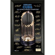 product image for MLB Chicago Cubs 2016 World Series Champions Trophy Signature Photo