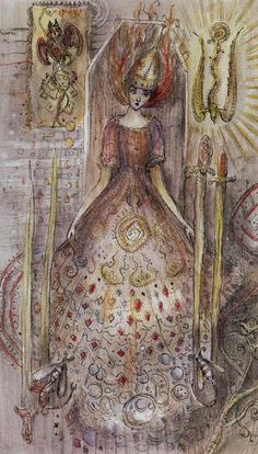 4 d'épées - Tarot Paulina par Paulina Cassidy