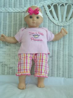 Doll Clothes Bitty Baby Girl cute 3  pc Princess   by btcrafts