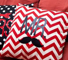 Mr. Mustache pillow made with Cricut Iron-on. Make It Now with the Cricut Explore in Cricut Design Space.
