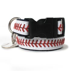 Baseball Stitched Dog Collar