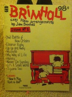 1968 John Brimhall Easy Piano Arrangements Issue No. Never On Sunday, Easy Piano, Small World, Etsy Vintage, Products, Beauty Products