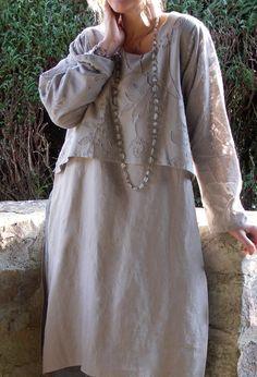 Three Layer Dress in linen.