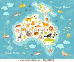 Collins childrens world map amazon collins maps animals world map australia australian animals poster australia mapstralia mammals cartoon gumiabroncs Gallery