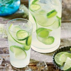 Cucumber-Lime Infused Gin and Tonic | MyRecipes.com