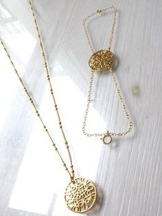Jasmin Coin   A 40cm gold filled necklace With a 2cm by Miryam24K, ₪290.00