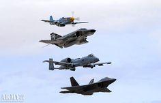 P-51; F-4; A-10; F-22