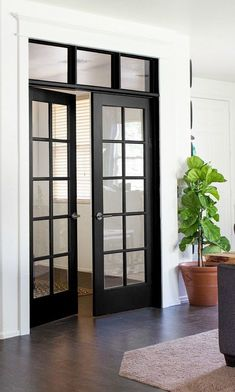 French Door To Outside Interior French. 27 Best Planning Window Treatments For French Doors . Sliding Glass Pocket Doors Exterior Hawk Haven. Home and Family Black French Doors, Black Doors, Bedroom With French Doors, French Closet Doors, Glass Closet Doors, Double French Doors, French Doors Patio, Installing French Doors, Front Door Entrance