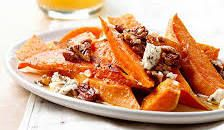 Sweet Potatoes with Pecans and Blue Cheese