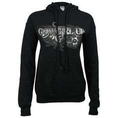 Cowgirl Up Women's Graphic Print Hoodie model# 2011318
