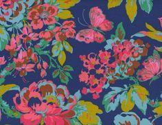 Jennifer Paganelli Color Brigade Gretchen Cotton Fabric Blue