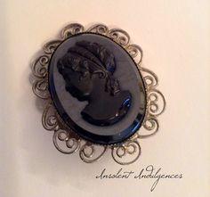 A Rare 1950's Exquisite Black Sardonyx by InsolentIndulgences, $45.00