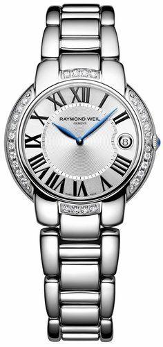expensive but so beautiful Raymond Weil Women's 35mm Jasmine Diamond Stainless-steel Bracelet Watch