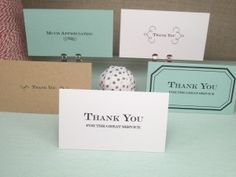 simple printable - thank you (business cards) GENIUS! These are GREAT things to put in a CD for photography clients! Business Thank You Cards, Business Card Size, Printable Thank You Notes, Applique, Notes Free, Paper Cards, Thank You Gifts, Give Thanks, Note Cards