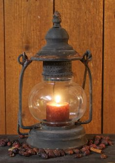 Primitive Camp Lantern...uses votive candle                               ****