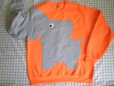 Elephant Trunk sleeve sweatshirt sweater by CreativeCallipipper, $45.00