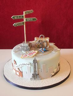 "Little Miss Muffin on Twitter: ""Travel themed 30th #birthday cake ..."
