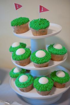 Golf cupcakes, I'm sure you could commission Holy Cow Cupcakes or Flying Cupcake to make these!