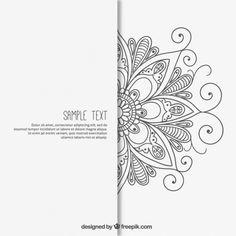 Flower Drawing Vectors, Photos and PSD files Mandala Art Lesson, Mandala Drawing, Mandala Painting, Owl Wallpaper Iphone, Tattoo Painting, Henna Drawings, Bedroom Murals, Bohemian Art, Geometric Wall