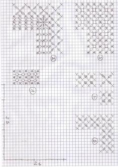 More Embroidery Stitches on Gingham fabric...   Laura fa: Broderie suisse - tovaglia finita
