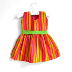 Baby Dress  Baby Girl Dress  Size 2T Multi stripe by PaisleyMagic, $31.99