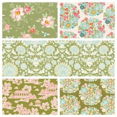Tilda Bumblebee Fabric Bundle - Green