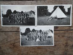 Three photographs of Girl Guides? camping in 1920's ? England? | eBay