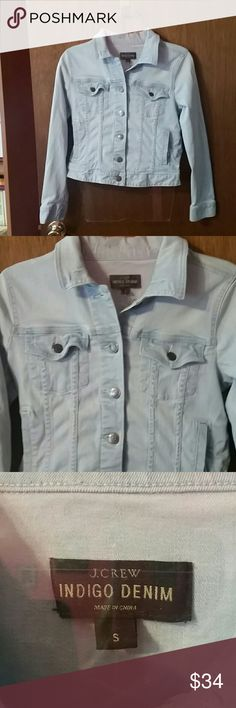 J. Crew Indigo Denim size S jacket J. Crew indigo denim jacket. Size S. Perfect layering piece/staple item for your closet! J. Crew Jackets & Coats Jean Jackets