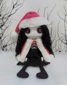 Gothic Art Rag Doll  Gretchen the Christmas by ChamberOfDolls