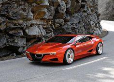 BMW M1 Concept Car... that orange is hott! Luxury Sports Cars, Sport Cars, Bmw Sport, Luxury Auto, Bugatti, Maserati, Ferrari Laferrari, Bmw Autos, Colani Design