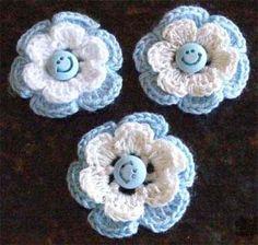 escarapela-argentina-artesanal-al-crochet-con-prendedor-4131-MLA2668272870_052012-O Love Crochet, Crochet Motif, Beautiful Crochet, Crochet Flowers, Crochet Patterns, Diy And Crafts, Crochet Earrings, Handmade Jewelry, Knitting